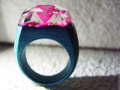 Купить Деревянное кольцо Первая любовь - подарок на 5 лет, деревянная свадьба, бохо кольцо