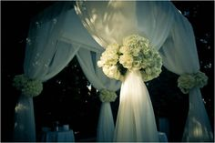 outdoor Wedding Ceremony Flower Arrangements