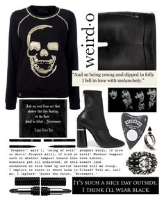 """""""Spring into darkness"""" by sunnydays4everkh ❤ liked on Polyvore featuring Philipp Plein, Alexander McQueen, 3.1 Phillip Lim, Raven Denim, Gucci, LunatiCK Cosmetic Labs, Kat Von D and Sisley"""