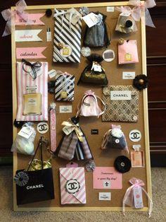 Coco Chanel themed wedding advent calendar Best Friend Wedding Gifts, Friend Birthday Gifts, Advent Calendar Gifts, Advent Calenders, Wedding Calendar, Wedding Countdown, Wedding Boxes, Diy Wedding, Wedding Mints