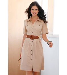 Designer Clothes, Shoes & Bags for Women Casual Wear, Casual Dresses, Casual Outfits, Summer Dresses, Dress Outfits, Cool Outfits, Fashion Dresses, Safari Dress, Lovely Dresses