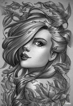 Art Drawings Sketches, Pencil Drawings, Cute Girl Sketch, Donia, Desenho Tattoo, Art Et Illustration, Amazing Drawings, Female Art, Fantasy Art