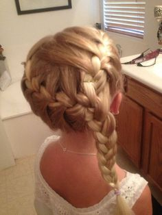 How did these lil cuties sit still for these wonderful hair art??