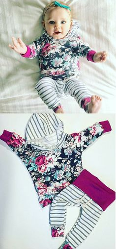 Baby girl / baby clothes / floral and stripes / newborn outfit / girl toddler / baby girl outfit / floral print / hospital outfit/ new baby