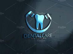 Dental Logo by Josuf Media on Creative Market Dental Clinic Logo, Dentist Logo, Dentist Clinic, Dental Business Cards, Office Logo, Office Humor, Teeth Logo, Dental Anatomy, Dental Office Decor