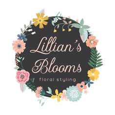 Floral Wreath Premade Logo Design - Customized with Your Business Name!