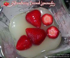 Strawberry Coconut Lemonade Recipe {Easy Tropical Slush}