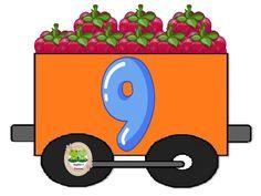 Números del 0 al 10 ~ Imágenes Creativas Math 2, Preschool Math, Kindergarten Classroom, Diy Classroom Decorations, School Decorations, Math Numbers, Alphabet And Numbers, Farm Unit, Toddler Learning Activities