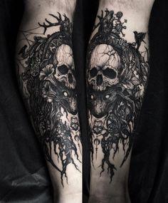 "2,824 Likes, 13 Comments - Dmitriy Tkach (@dmitriy.tkach) on Instagram: ""Huge piece on the leg. Two days in a row! Thank you Vadim! #tattoo #tattoos #tattooart…"""