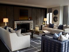The Lansbury penthouse reception room by Finchatton