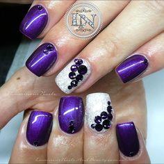 Purple & White 💜🐚 Acrylic Overlay with @gfa_australia FW143…