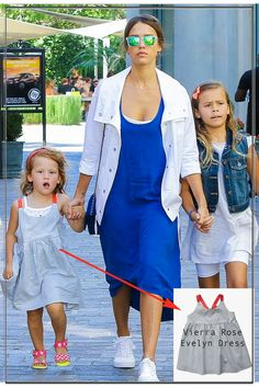 Jessica Alba's daughter Haven wearing Vierra Rose Evelyn Dress