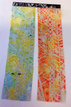 Dysperse dye samples textiles A Level Cardinal Newman College Sarah Robinson