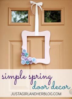 Adorable spring wreath-- so easy too!   JustAGirlAndHerBlog.com