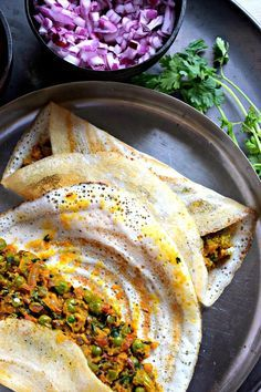 Ever had a masala dosa with sweet potato filling? If not then try this wonderful recipe. The sweet potatoes make a great alternative to regular potatoes. Vegetarian Breakfast, Vegetarian Recipes, Cooking Recipes, Healthy Recipes, Indian Breakfast, Vegan Meals, Vegan Dishes, Curry Recipes, Potato Recipes