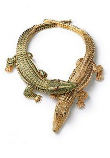 Designed for Maria Felix by Cartier, Exotic Snake and Crocodile Jewelry~Fantastical!