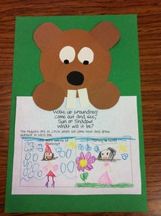 I do a craft like this for Groundhog's day. I like what the students added underneath!