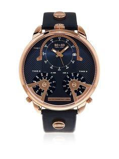 SO&CO New York Reloj con movimiento cuarzo japonés Man GP16026 50 mm en Amazon BuyVIP