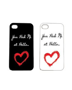 You Had Me at Hello iPhone 4 4s and iPhone 5 5s by humanitysource, $14.95