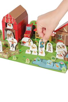 The Farm Paper Toy Paper Toy DIY Paper Craft Kit 3D by pukaca