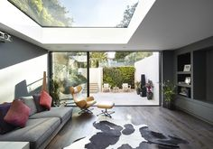 We are a leading firm of residential architects specialising in designing contemporary new homes and period renovations in London, Surrey and the South East Home Interior Design, Interior Architecture, Interior And Exterior, Home And Living, Home And Family, Glass Extension, Extension Ideas, Architects London, Dark Grey Walls