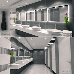 Evermotion – portfolio by Nazafi Mohamed – Commercial Commercial Toilet, Centre Commercial, Commercial Bathroom Ideas, Washroom Design, Bathroom Design Luxury, Hookah Lounge Decor, Wc Public, Church Interior Design, Toilette Design