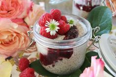 """PaleOMG """"Peanut Butter"""" and Jelly Overnight Chia Pudding"""