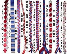 different homecoming mum braids, the Military braid I would like due with different blues so it has a touch of the navy in it?