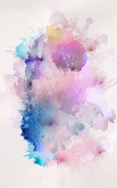 Image via We Heart It #abstract #background #iphone #pastel #splash #wallpaper #watercolour
