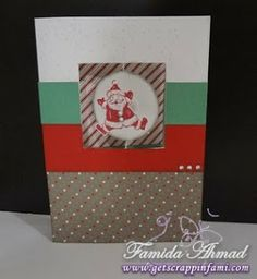 Get Scrappin: Sparkle & Shine + Frosted Holiday Cards #SparkleAndShine #C1567SantaClaus #SpinnerCard - card outside