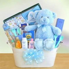 Baby shower present i made galvanized bucket with baby bath items shop the best in adorable baby baskets and send baby gift baskets and baby gifts for baby showers and new baby arrivals negle Gallery