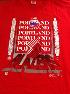 FOR SALE Vintage tee from dominant era of Blazer basketball. The Blazers won  their 2nd