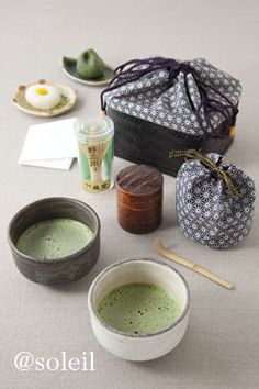 Japanese green tea set for picnic, travel. It is so cute and smaller than normal one.