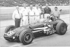 Bobby Grim in the last front-engined Indy car, in 1966.  Started 31st, and taken out along with 10 others, in the wreck at the starting line used in Paul Newman's 'Winning.'
