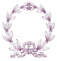 Vintage Christmas Clip Art - Laurel Wreath Frame - The Graphics Fairy