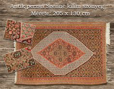 Size : 2,05 x 1,30 , incomplete in a little part at one end, but in general is in very good condition Persian Carpet, Carpets, Hand Weaving, Oriental, Rugs, Antiques, Gallery, Antique, Roof Rack