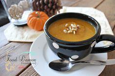 Butternut Sage Soup with Toasted Pine Nuts | Food L'amor | Gluten Free and Paleo Recipes by Melissa #glutenfree #