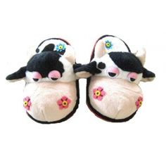 Cow slippers