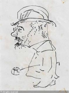 Toulouse Lautrec, self-portrait