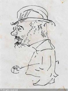 Toulouse Lautrec, self-portrait