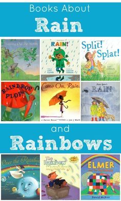 Books About Rain and Rainbows Fantastic Fun & Learning is part of Rainbow rain - First comes the rain, then come the rainbows! Enjoy these fun books about rain and rainbows with kids Free printable book list and writing activity Preschool Books, Preschool Themes, Preschool Kindergarten, April Preschool, Preschool Crafts, George Orwell, Writing Activities, Activities For Kids, Rainbow Activities