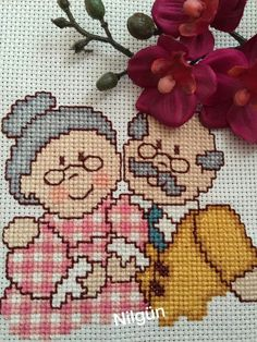 Happy Ever After Cross Stitch Cross Stitch Family, Cross Stitch Heart, Cross Stitch Cards, Cross Stitching, Cross Stitch Embroidery, Plastic Canvas Crafts, Plastic Canvas Patterns, Embroidery Patterns Free, Embroidery Designs