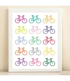 Colorful Bicycle print poster by AmandaCatherineDes on Etsy, $15.00  https://www.etsy.com/treasury/MjA2MzEzNTF8MjcyNDc4Nzc4MA/it-is-saturday?ref=pr_treasury