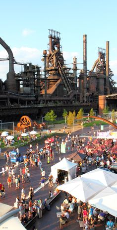Sweet overhead shot of the awesomeness at SteelStacks. ~ GREAT shot of the crowds during Musikfest!