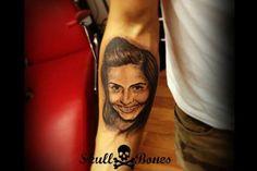 Memoir Tattoo #girlportrait #memoir #memoirtattoo #skullnbones #skullnbonestattoo
