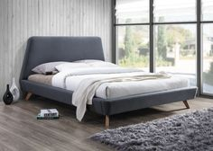 Upholstered Queen Size Platform Bed with Solid Wood Slats, Made of Wooden Construction with Fabric Upholstery, Multiple Color Options + Expert Guide Platform Bed Sets, Queen Size Platform Bed, Upholstered Platform Bed, Queen Size Bedding, Bedding Sets, Mid Century Modern Bed, Headboard Designs, Bed Reviews, Adjustable Beds
