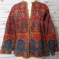 The Bohemian Spirit Colorful Fashion, Jackets For Women, Kimono Top, Bohemian, India, Etsy, Vintage, Sweaters, Coats