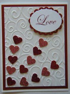 Stampin Up Card Kit, Love Valentine Handmade Card, Stampin' Up, Embossed Envelop