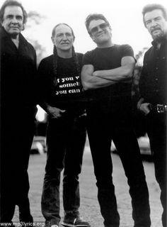 The Highway Men.     Johnny Cash, Willie Nelson, Kris Kristopherson and Waylon Jennings