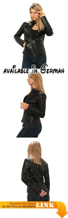"""Frau echtes Leder-Jacke """"Biker-Stil"""" Made in Italy. Lederjacke Made in Italy. Lederjacke in High Quality. Groß für Herbst-Frühling Jahreszeit. Tabellen misst Beschreibung. Ausgezeichnete Qualität-Preis-Verhältnis #Apparel #OUTERWEAR"""